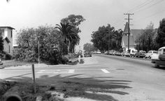 Katella Ave. at Reagan St., Los Alamitos, circa 1955  There are no known copyright restrictions on this image. All future uses of this photo should include the courtesy line, Photo courtesy Orange County Archives.