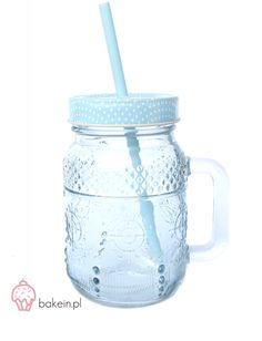 Bake in   Pastel Drinking Jar with Straw www.bakein.pl