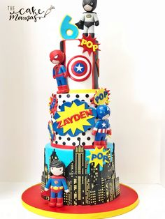 Call or email to place your custom cake orders today! Avengers Birthday Cakes, Superhero Birthday Cake, 3rd Birthday Cakes, Novelty Birthday Cakes, Novelty Cakes, Girl Birthday Themes, Star Wars Birthday, Star Wars Party, Superhero Party
