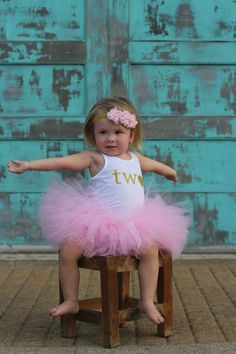 ca441dbd5 Pink and Gold 2nd Birthday Tutu Outfit 2nd Birthday Outfit, Birthday Party  Outfits, Girl
