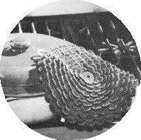 Pretty Petals Potholder.   The Complete Book of Crochet.   The Spool Cotton Company - 1946