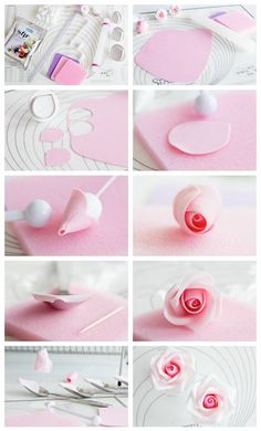 Making a rose out of polymer clay