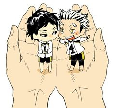 Bokuto Kotaro and Akashi Keiji. They are literally this adorable.