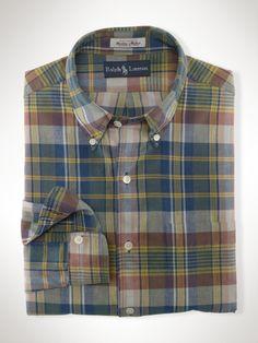 Custom-Fit Madras Shirt - Polo Ralph Lauren custom