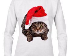 Christmas Cat Women's Christmas Sweatshirt Jumper
