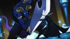 Kirito vs blue eyed demon