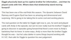 Wendy Mericle on Felicity, Diggle & Oliver storylines