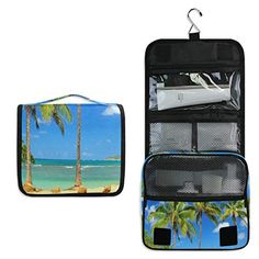 7f4449a906ae7e Hanging Toiletry Bag Palms In Kauai Hawaii Travel Organizer for Makeup and  Toiletries for Men Women,Hang Case for Cosmetics and Toilet Accessories  with ...