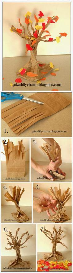 herbstbaum aus einer papiertüte                                                                                                                                                                                 Mehr