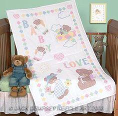 Embroidery Baby Quilt Top Sunbonnet Sue Jack Dempsey