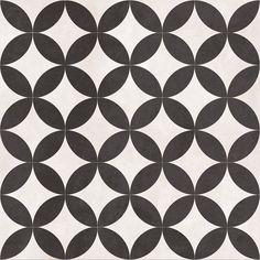British Ceramic Tiles Feature Floors Bertie Black & White tile