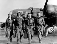 WASP-WWII.  These women pilots pre-dated the USAF