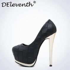 06871baad363 DEleventh 2017 New Vogue Platform 14CM Ultra High Heels Woman Shoes  Nightclub Sexy Pumps Evening Party