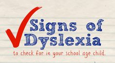 Signs of Dyslexia - What to watch for in your child
