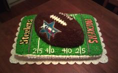 Homemade Superbowl Cake: This Superbowl Cake was my second attempt at making a football themed cake. My husband was so impressed with his Eagles football cake, that he asked me