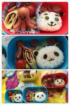 #panda #bento #kids #fall  a lovely bento for picnic.