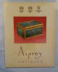 asprey antiques catalog October 1985 Sold