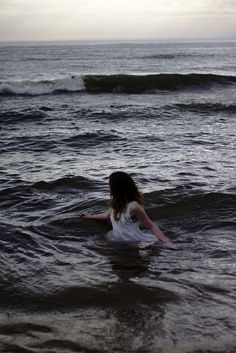 Previous Pinner: Panic rose in her throat as she merged deeper into the sea. The salty air stuck to her skin, mingling with sweat, her eyes darting back to shore. They were chasing her. She hurried farther away, facing a new fear altogether. She couldn't swim.