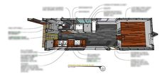 One of the best tiny house plans out there is Macy Miller's tiny house at MiniMotives. Macy's tiny home is built on a trailer and is a single level. Check out the plans for this unique tiny home design. Tiny House Loft, Best Tiny House, Tiny House Plans, Tiny House Design, Tiny House On Wheels, House Floor Plans, Trailer Deck, Gooseneck Trailer, Electrical Diagram