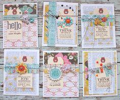 #papercraft #card Michelle Wooderson // Gossamer Blue www.heritagemakers.com/tracel