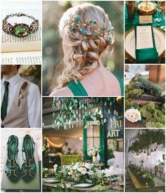 Un mariage vert émeraude en communion avec la nature