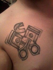 Cummins Diesel Engine Tattoo Ink seen at DieselTees.com