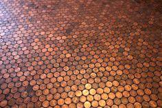 Penny Floor http://www.handimania.com/craftspiration/penny-floor.html