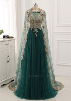 Elegant Tulle Jewel Beading Appliques Prom Dresses with Ruffles Online - - Royal Dresses, Dressy Dresses, Ball Dresses, Cute Dresses, Prom Dresses, Reign Dresses, Pageant Gowns, Mode Harry Potter, Fantasy Gowns