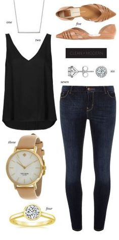Clean, modern jeans + t shirt look from The Things We Didn't Buy – ZKKOO