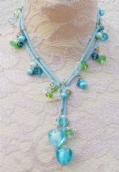 Turquoise & Green Handmade Suede Lariat Necklace We Love Heart, Lariat Necklace, Heart Jewelry, Originals, Hearts, Turquoise, Jewellery, Green, Handmade