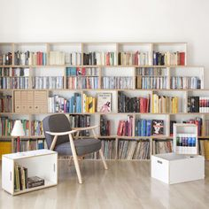 BrickBox is a patented shelving system composed of stackable modules used as storage, display or even to transport your collectables.