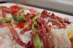Anne Laila´s verden: Fisk i form med bacon og grønnsaker