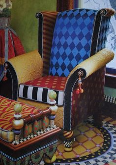 DESIGN INSPIRATION FOR PATIO.   Desigual Furniture Design With Rich Colors #classicmodernfurniture
