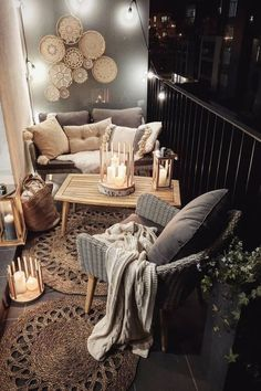 fall decor ideas for the home 17 Modern Decoration Appartement Ideas You Will Fall In Love Apartment Balcony Decorating, Apartment Balconies, Apartment Ideas, Cosy Apartment, Green Apartment, Zen Bedroom Decor, Living Room Decor, Home Decor, Small Balcony Decor