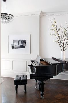 This Piano Space Is Actually Right Next To A Dining Room And Kitchen The Rooms Are Designed With Clean Classy Flow
