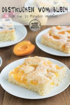 Simple quick fruit cake from the tray Baking makes you happy - Kuchen, Torten, Backrezepte - Delicious Pie Happy Cake Recipe, New Dessert Recipe, Dessert Recipes, Easy Cake Recipes, Fruit Recipes, Easy Desserts, Baking Recipes, Pie Recipes, Quick Fruit Cake