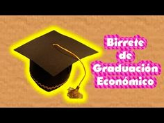 Birrete para Graduación, muy económico para niños