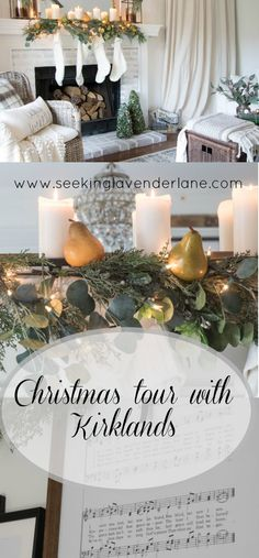 neutral christmas living room with kirklands vintage christmas christmas diy holiday christmas living