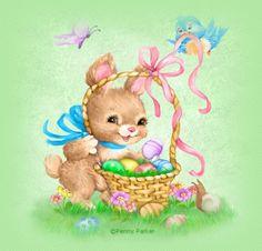 Easter Basket ~ By Penny Parker Easter Art, Easter Crafts, Easter Bunny, Penny Parker, Easter Wallpaper, Easter Pictures, Easter Parade, Easter Printables, Easter Holidays