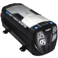 This heavy duty Power Inverter connects directly to a 12 Volt DC battery to power microwaves, power tools, televisions, gaming consoles, home electronics and home appliances in your vehicle