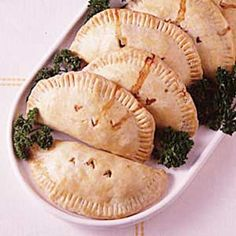 Cornish Pasties Recipe -On a vacation many years ago, my family stopped for lunch at a little cafe, the Game Keeper Cafe, in Butte, Montana. We ordered a Welsh dish—cornish pasties—and it was absolutely delicious. We couldn't resist asking to meet the cook. We asked for the recipe, and he was happy to share this cornish pasty recipe. —Nellie Rader, Emmett, Idaho