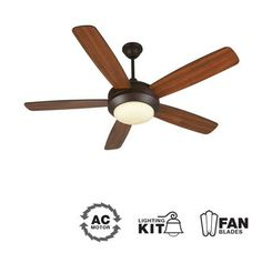 """View the Craftmade HE52 Helios 52"""" 5 Blade Indoor Ceiling Fan - Blades and Light Kit Included at LightingDirect.com."""