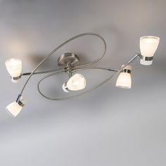 Ceiling Lamp Nadia 5 Steel