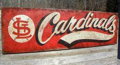 original # Cardinals baseball  sign by ZekesAntiquesigns