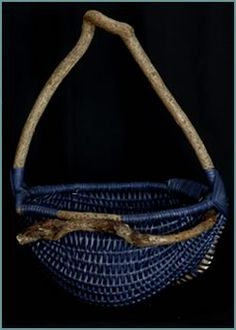 ♂ basket art Teardrop basket style by master basket maker Tina Puckett