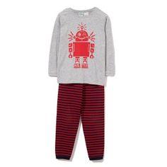 Milky Boys Robot Pj'S Denim Marle/Red Stripe Kids Pajamas, Pyjamas, Pjs, Online Boutiques, Stylish Outfits, Sweatpants, Robot, Denim, Sweatshirts