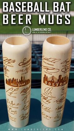 Lumberlend Co. is the Home of the Original Baseball Bat Mug®. These fully customizable bat mugs are the perfect gift for the baseball fan, coach, player, parent, wedding party or groomsmen. Creative Gifts, Cool Gifts, Diy Gifts, Unique Gifts, Gifts For Dad, Fathers Day Gifts, Holiday Gifts, Christmas Gifts, Christmas Birthday
