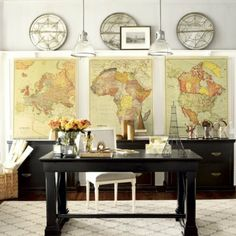http://www.thefancy.com/lorenagcarbajal - Suzanne Kasler Map Giclee