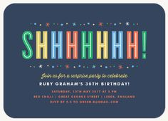 Free printable surprise birthday party invitations templates colorful surprise birthday party invitations will remind your guests to keep the celebration a secret pronofoot35fo Image collections