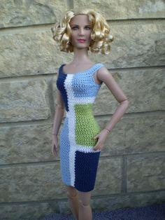 Crochet Barbie Patterns, Crochet Barbie Clothes, Crochet Dolls, American Girl Clothes, Barbie Dress, Barbie And Ken, Bari, Crochet Fashion, Clothing Patterns